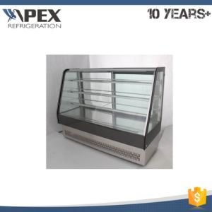 3-Shelf Curved Glass Cake Showcase pictures & photos