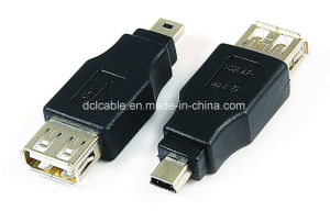 USB2.0 a Female to Mini 5pin Adapter pictures & photos
