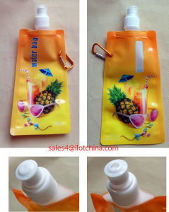 Ilot Custom Foldable Drinking Bottle with Aluminum Carabiner Attached pictures & photos
