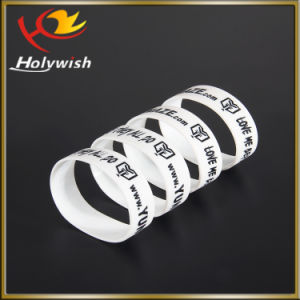 High Quality Colorful Band Bracelet Silicone Wristband with Printed pictures & photos
