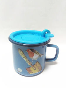 400ml with Suction Lid  Enamel Mug Beer Mug Milk Mug Gift Mug 8*8cm Enamel Factory OEM Logo pictures & photos