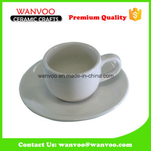 White porcelain Cup and Saucer Coffee Set for Hotel and Shop pictures & photos