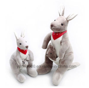 Soft Plush Australia Kangaroo Toy with Baby pictures & photos