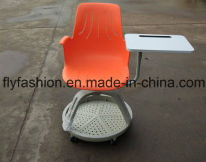 Hot Sale Plastic Training Chair on Wheels Node Chair pictures & photos