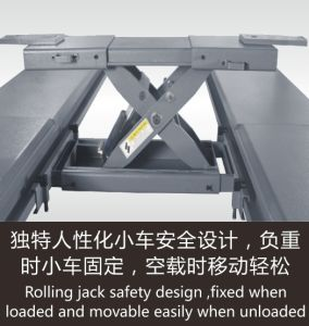 Jf High Quality Four Post Design and Ce Certification Hydraulic Car Lift pictures & photos