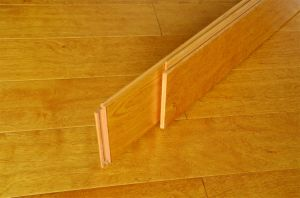 Yellow Engineered Multi-Layer Solid Wood Flooring for Children Room pictures & photos