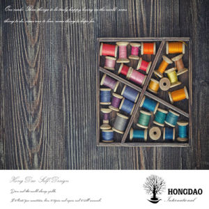 Hongdao Custom Wooden Sewing Thread Display Box Wholesale_L pictures & photos
