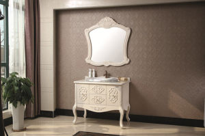Imported Oak Wood Sanitary Ware Bathroom Furniture