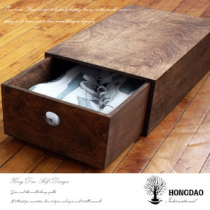 Hongdao Custom Made Wooden Shoes Storage Box Wholesale_L pictures & photos