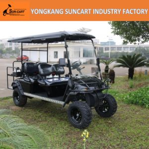 6-Seat Electric off-Road Hunting Cart with Gray Painted Wheels pictures & photos
