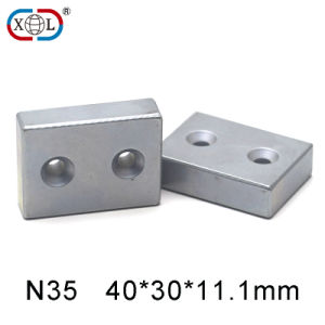 Super Strong Power Neodymium Block Magnet with Round Countersunk pictures & photos