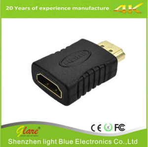 Gold Plug HDMI to HDMI Adapter pictures & photos