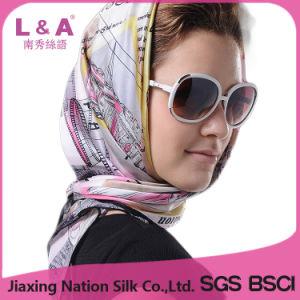 Multicolor 100% Silk Satin 90*90cm Big Square Scarf pictures & photos