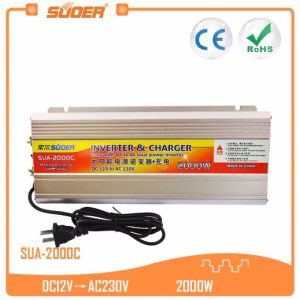 Suoer High Frequency 12V 220V 2000W Power Inverter with Battery Charger (SUA-2000C) pictures & photos
