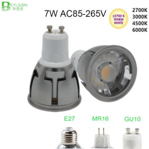 7W GU10 MR16 E27 Dimmable LED Spot Lighting pictures & photos
