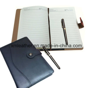 Handmade Leather Cover Design Journal Notebook Diaries pictures & photos