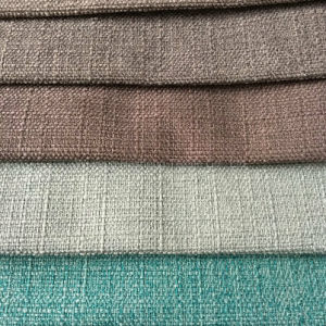 Hzh33 Polyester Linen Upholstery Fabric for Hometextile Sofa Cushion pictures & photos