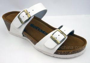 2017 Cork Shoes Cork Sandal Ladies Wedge Birken Stock Slipper pictures & photos
