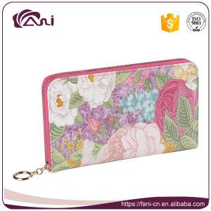 Big Zip Wallet, PU Leather Flower Wallet pictures & photos