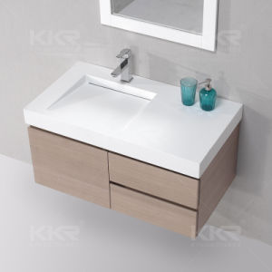 Modern Single Sink Solid Surface Bathroom Cabinet Vanity (B1706053) pictures & photos