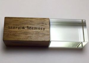 Personalized Custom Logo Crystal Flash Memory USB 32 GB 64 GB 128GB 256GB Pen Drives pictures & photos