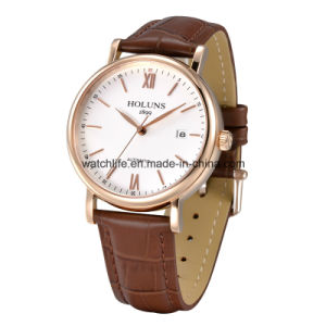 Automatic Stainless Steel Fashion Business Men′s Wrist Watch pictures & photos