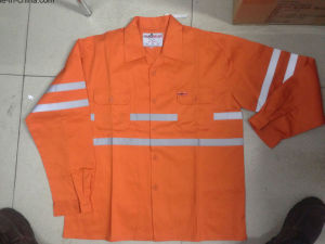 Orange Jacket with Replective Double Chest Pockets pictures & photos