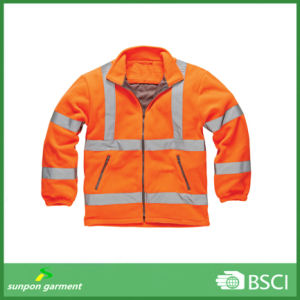 Fluorescent Safety Polar Fleece Long Sleeves Jumper pictures & photos