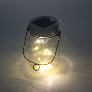 Portable Outdoor High Bright Lamp Clear Glass Solar LED Mason Jar pictures & photos