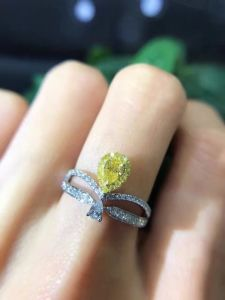 925 Silver Ring with Pear Cut CZ pictures & photos