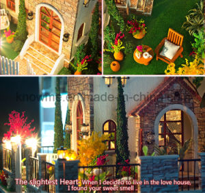 2017 New Miniature Model Wooden Dollhouse DIY Toy pictures & photos