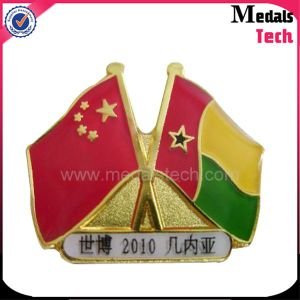 Hot Selling Custom Two National Flag Lapel Pin pictures & photos
