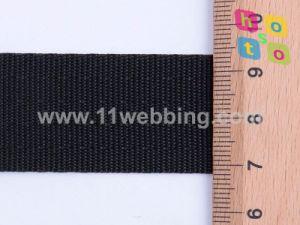 Hot Sale 25mm Black Polyester Safety Belt Webbing pictures & photos