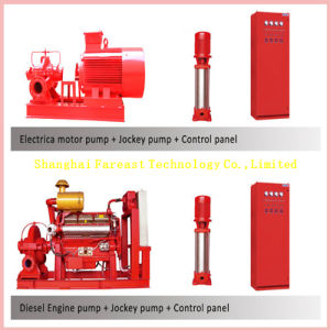 Diesel Engine Drive Vertical/Horizontal Single, Multi Stage and Single Stage Open Double Suction Long Shaft Deep Well Fire Fighting Water Pump pictures & photos