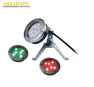 DC24V 18PCS IP68 RGB Stainless Steel Wall-Mounted LED Underwater Pool Light pictures & photos