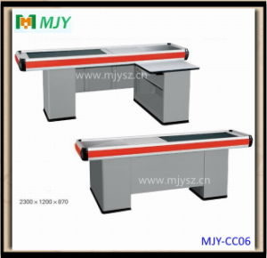 Cashier Counter with Conveyor Belt Mjy-Cc06 pictures & photos