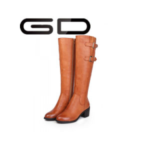 2017 Wholesale Over The Knee Women Leather Boots pictures & photos