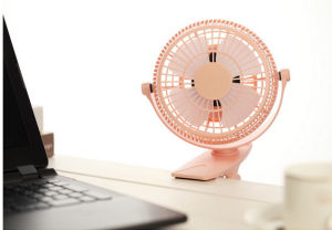 2 level wind speeding USB miniCharging fan with clamp -Orange pictures & photos