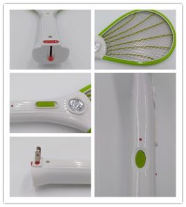 White Handle Mosquito Swatter Racket Insect Killer with LED Light Design pictures & photos