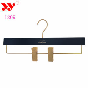 Strong Metal Gold Clips Plastic Bottom Pants Hangers pictures & photos