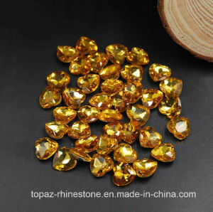 Point Back Rhinestone Jewelry Making Crystal Chaton Swaro Crystal Bead (TB-heart 27mm) pictures & photos