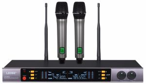 Ls-993 High Quality Dual Channels UHF Wireless Microphone pictures & photos