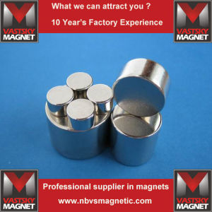 N35 N45 N48 N52 Permanent Cylindrical Neodymium Iron Boron Magnet pictures & photos