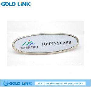 Company Hotel Nameplate Custom Metal Name Tag Name Badge pictures & photos