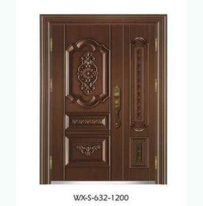 Competitive Exterior Luxury Steel Security Door (WX-LS-298) pictures & photos