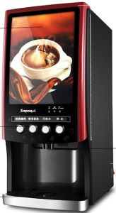 Commercial Fully Automatic Coffee Vending Machine Sc-7903elwp Red