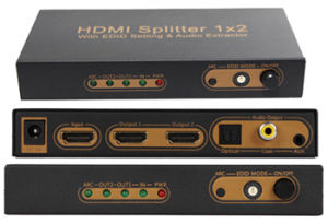 2 Port HDMI Splitter with Edid Setting & Arc & Audio Extractor