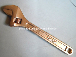 Anti Spark Quick Adjustable Wrench Spark Free Brass Adjustable Spanner pictures & photos