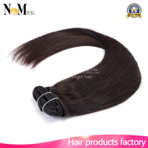 Full Head Clip in Hair Extensions 140g 180g 220g 260g Lightest Blonde White Clip in Hair Extension pictures & photos
