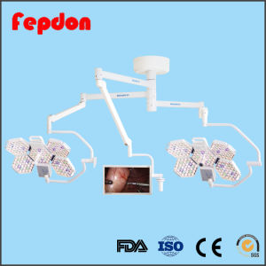 Double Ceiling Medical Operation Lamp with Camera pictures & photos